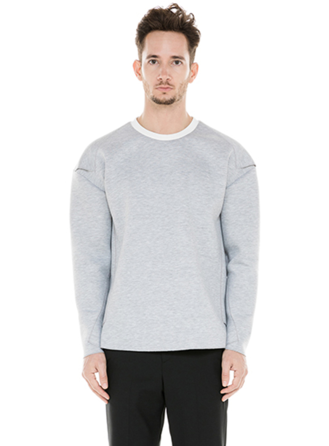 Grey Twist Neoprene Pullover