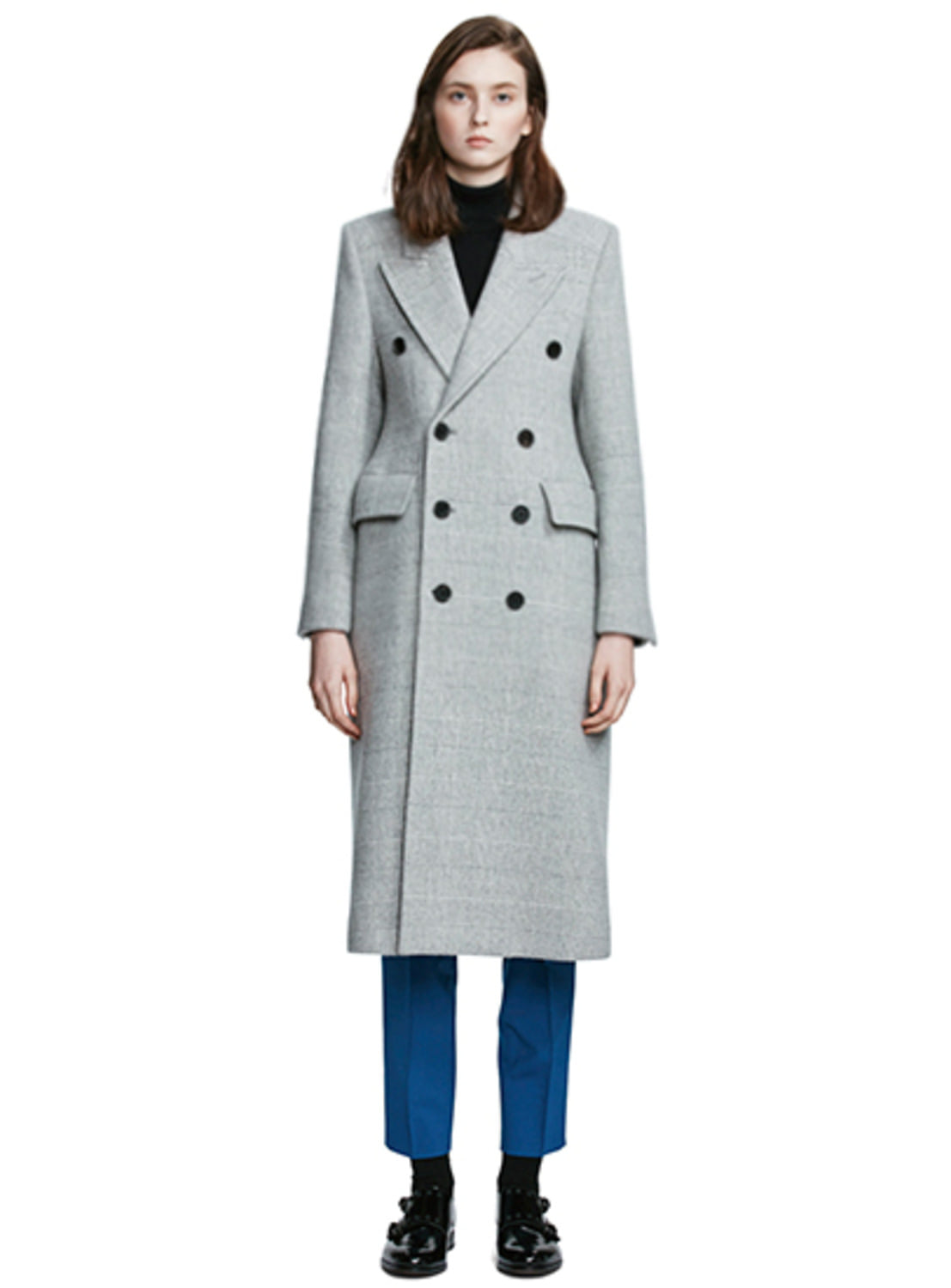 Grey Check Glass coat