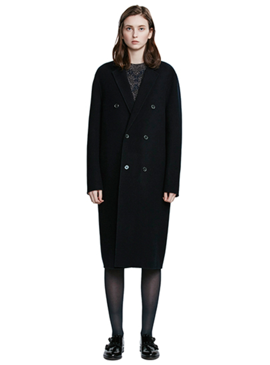 Navy Handmade Double Coat