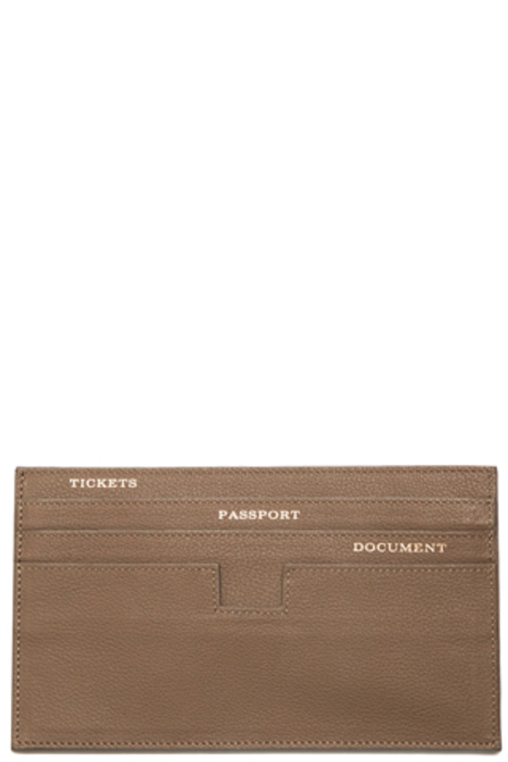 GreyBrown Travel Wallet