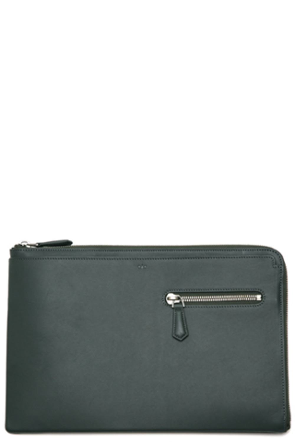 DarkGreen Zipper Clutch