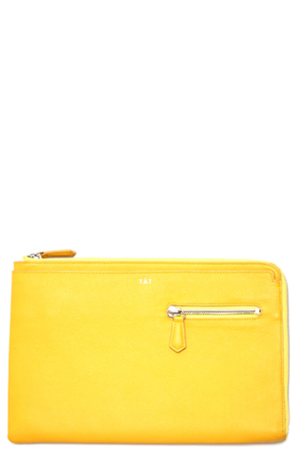 YELLOW Two Side Zipper Clutch