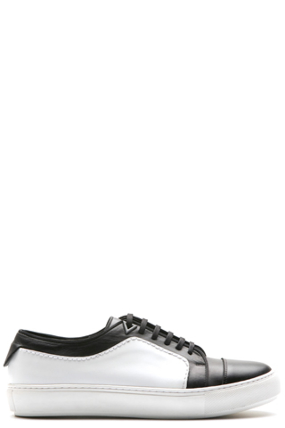 White & Black Stich Sneakers